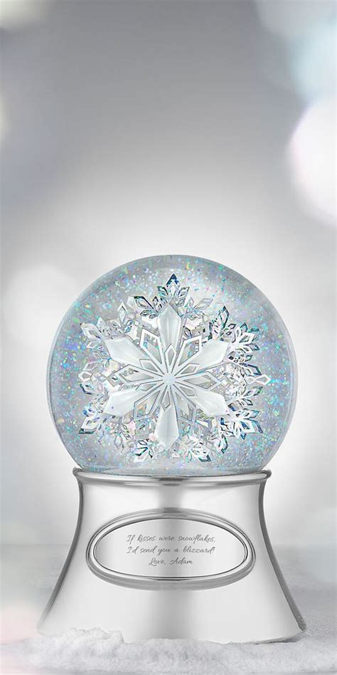 snowflake musical water globe   remembered
