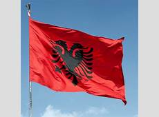 Albania Flag Double Headed Eagle OUTDOOR decor BANNER
