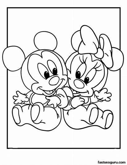 Coloring Pages Disney Babies Minnie Printable Mickey