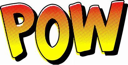 Comic Effect Sound Pow Clipart Sign Svg