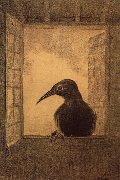 The Raven, 1882  Odilon Redon Wikiartorg