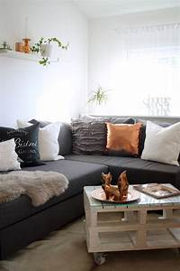 Emejing Wohnzimmer Couch Weis Grau Contemporary Amazing