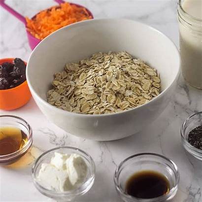 Oats Carrot Cake Overnight Ingredients Breakfast Mix