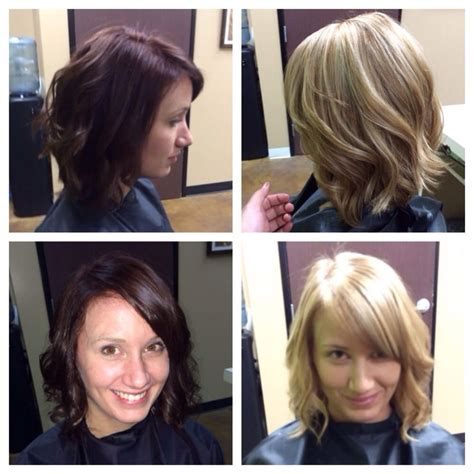 Brown To Hair Before And After Photos by Before A Rich Brown After A Beige Call Text