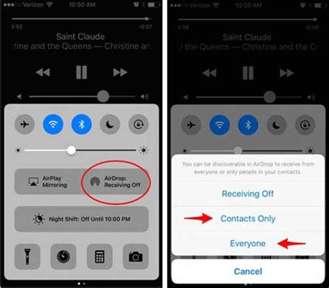 airdrop music from iphone to iphone turn on airdrop feature on iphone Airdr
