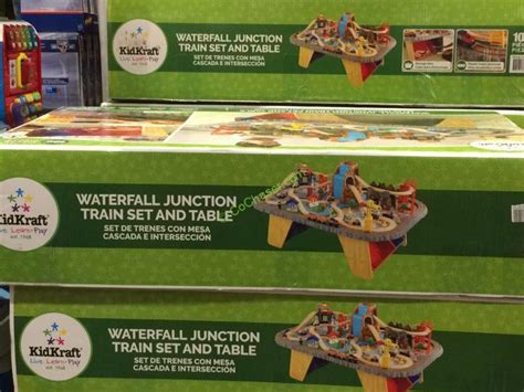kidkraft train table costco kidkraft waterfall all junction train set table
