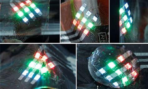 wearable led lights fiber like polymer leds developed asian scientist