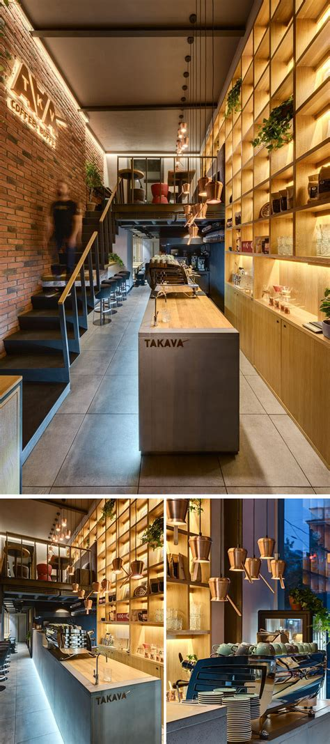 Innovative Bar Design by This Coffee Shop Creates A Warm Interior With The Use Of