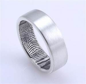 fingerprint ring sterling silver our quotoriginal With wedding ring with fingerprint