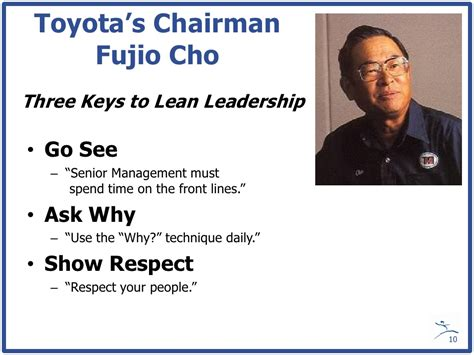 toyota go and see toyota s chairman fujio cho three