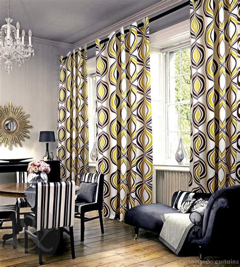imperial mustard yellow eyelet luxury lined curtain grey