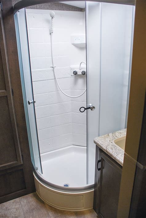 rv shower enclosures spree s323rk luxury lightweight travel trailer k z rv