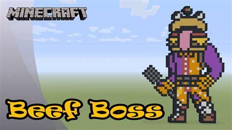 minecraft pixel art tutorial  showcase beef boss