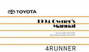1994 Toyota 4runner Owners Manual User Guide Reference