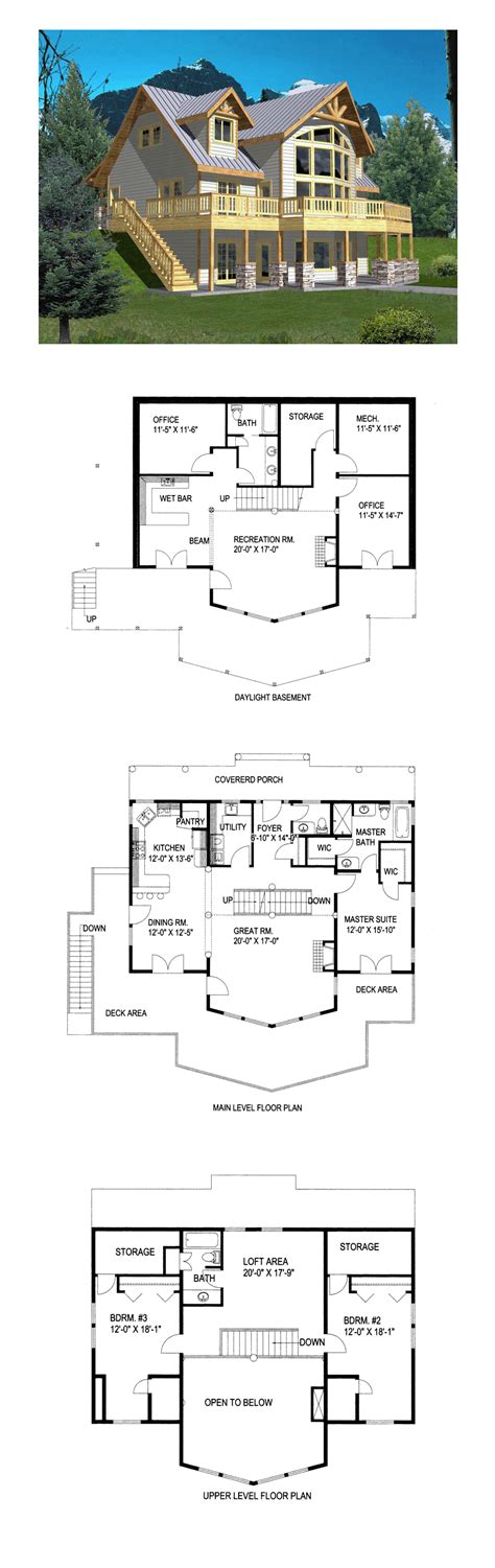 Coastal Style House Plan 85316 with 3 Bed 3 Bath