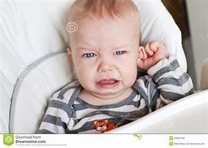 Cute Little Boy Crying Holding His Ear Royalty Free Stock ...