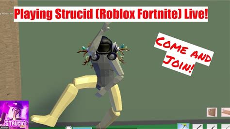 playing roblox fortnite    strucid youtube