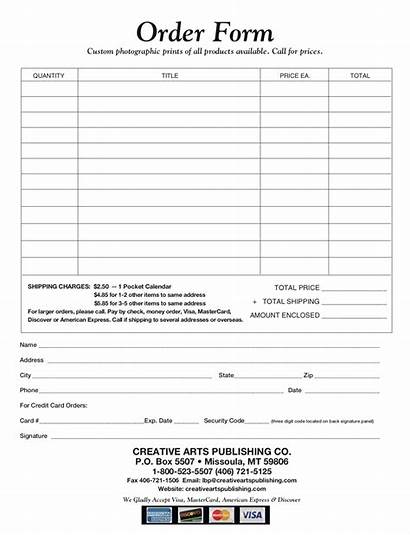 Order Forms Printable Form