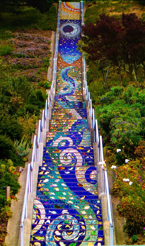 16th avenue tiled steps parking 16th ave mosaic steps steffane lui flickr