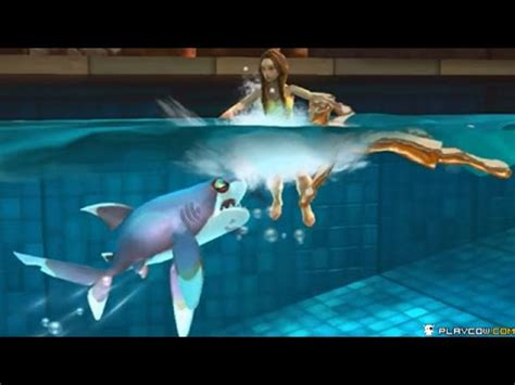 Hungry Shark In The Swimming Pool  Hungry Shark World
