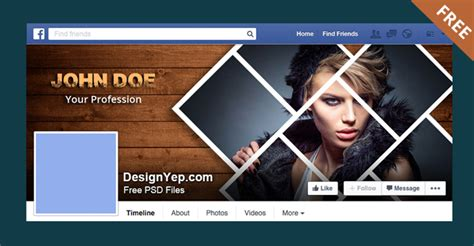 photography facebook timeline cover psd template