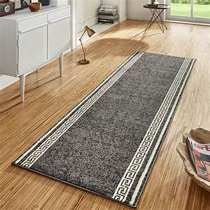 Flur Teppich Grau : design velours teppichl ufer br cke teppich diele flur kurzflor casa grau creme ebay ~ Indierocktalk.com Haus und Dekorationen