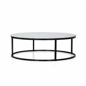 noho round marble coffee table With round marble and wood coffee table