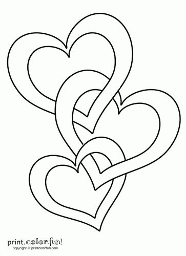 Connected hearts | zentangle | Heart coloring pages, Valentine coloring pages, Tattoos