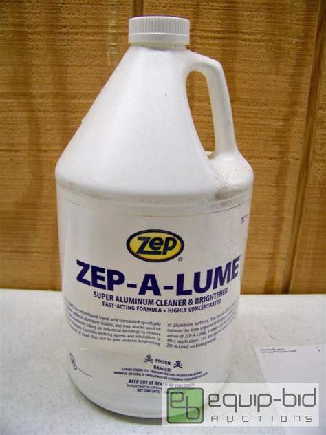 case   gallons zep  lume super aluminum cleaner  brighener belton  star merchandise