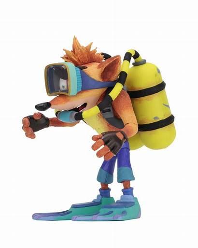 Crash Bandicoot Scuba Figure Action Deluxe Neca