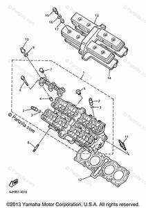 Yamaha Motorcycle 2005 Oem Parts Diagram For Cylinder Head