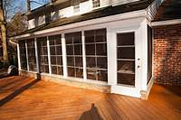 inspiring enclosed patio design ideas Magnificent Wooden Outside Deck Floors As Well As Small Front Enclosed Porch With Wide Glass ...