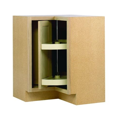 lazy susan for kitchen corner cabinet 28 375x34 5x16 5 in lazy susan corner base cabinet in