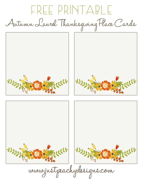free printable christmas table place cards template 6 best images of free printable thanksgiving placecards