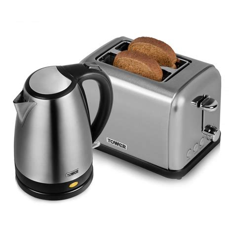 kettle and toaster stainless steel kettle and toaster tower from tower uk