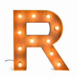 Letter R with Light Bulb - Reallynicethings