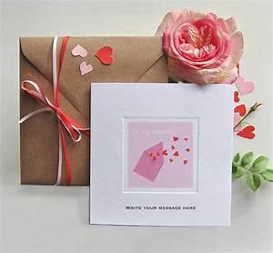'letter valentine luxury valentine's card' by honey tree ...