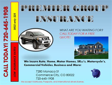 Premier insurance group, llc is an independent insurance agency serving our community throughout the state of virginia, the metropolitan washington, dc and maryland. Premier Group Insurance - Home & Rental Insurance - 7280 Monaco St, Commerce City, CO - Phone ...
