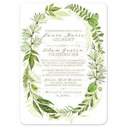 rustic save the date magnets greenery foliage wedding invitation watercolor leaves