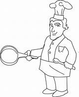 Chef Line Clipart Coloring Clip Cheff Sketch Sweet Sweetclipart Webstockreview Template sketch template