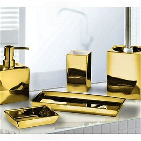 elegant silver  gold bathroom accessories luxurious