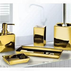 Elegant silver or gold bathroom accessories luxurious for Gold and silver bathroom accessories