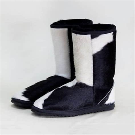 Cowhide Ugg Boots by Mid Calf Cow Hide Ugg Boots Eagle Wools Australian