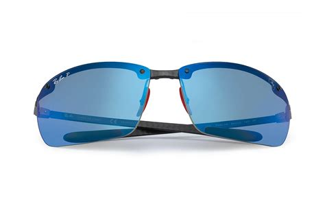 Skip the glare grab a pair of these shades with polarized lenses—no glare, no fuss. Ray-Ban Rubber Rb8305m Scuderia Ferrari Collection in Black/Blue (Blue) for Men - Lyst