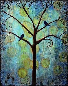 Twilight Tree Of Life Painting by Blenda Studio