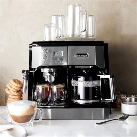 For a coffee lover on a budget, buying an espresso machine might prove challenging. De'Longhi All in One Combination Coffee Maker & Espresso Machine | Williams Sonoma