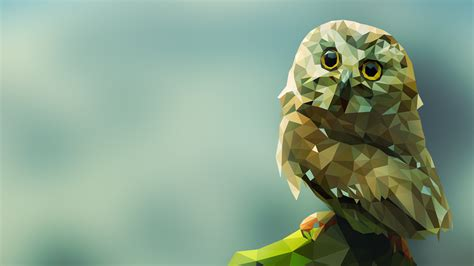 Background Digital Owl Wallpaper by Animals Digital Gray Low Poly Artwork