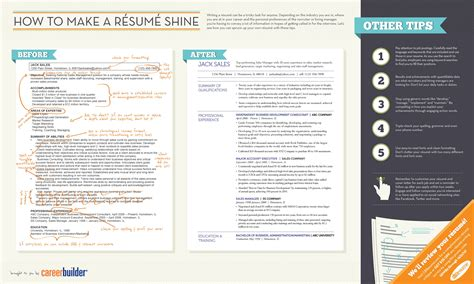 Tips To Make Your Resume Better by Resume Tips To Help You Land That Infographic