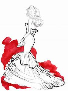 draw, dress, gala, girl, illustration - image #432286 on ...