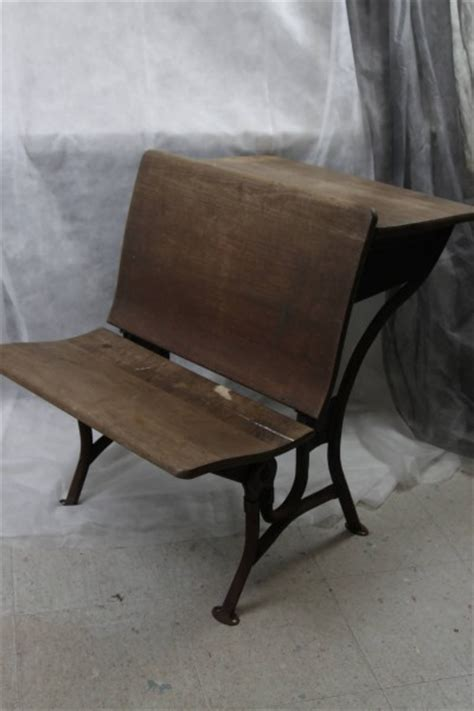 l216 30s american seating co chicago 2 wood school desk